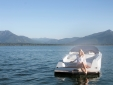 Evening mood at Chiemsee Chalet.