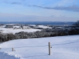 View from Chiemsee Chalet in winter.